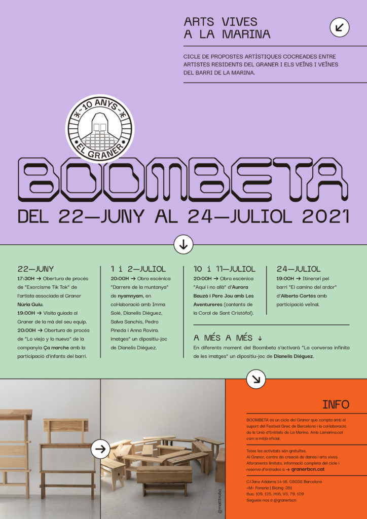 BOOMBETA 2021 · Live arts in La Marina from June 22nd to July 24th - Graner